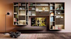 Foto parete attrezzata per il soggiorno: 25 idee di design - Living ...