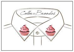 Guarda questo articolo nel mio negozio Etsy https://www.etsy.com/it/listing/268582989/cupcake-fairycake-collar-pins-brooches