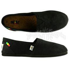 Bob Marley Rita Canvas Black Shoes - Womens @ Rastaempire.com