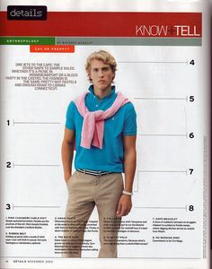 Pulling Off A Preppy Style The preppy look utilizes bright bold colors, especially cyan. The look is Style Preppy, Preppy Men, Preppy Look, 80s Style, Men's Style, 1980s Mens Fashion, Boy Fashion, Preppy Fashion, School Fashion