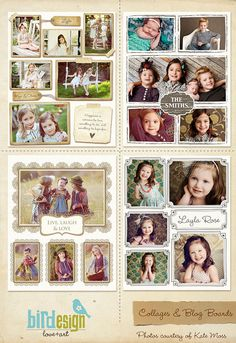 10 Blog Boards & 16x20 Collage Templates  E252 to by birdesign, $36.00