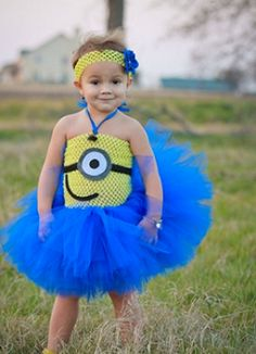 Minion Tutu Dress Couture Toddler Minion by APocketfulofBows  sc 1 st  Pinterest & Despicable me inspired tutu dressminion tutu by GlitterMeBaby ...