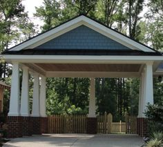 2 car carport - built on the high end of the details can be built modified to suit home of choice