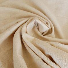 Cotton Khadi Fabric/Skin Friendly/Eco-Friendly/Indian Handwoven, Handspun Natural Khadi Fabric/Non-Dyed Fabric!!