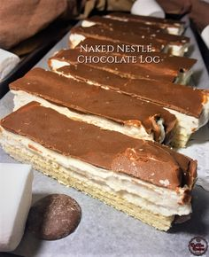 Chocolate Log Recipe, Nestle Chocolate, Recipe Videos, Food Videos, South African Desserts, Delish, Naked, Ethnic Recipes