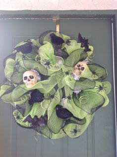 Large Ornate Halloween Wreath