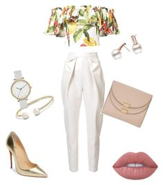 Untitled #1 by tjames0801 on Polyvore featuring polyvore, fashion, style, Isolda, Delpozo, Christian Louboutin, Chloé, David Yurman, Skagen, Lime Crime and clothing