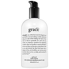 What it is:A perfumed body lotion for anyone who wants to feel soap-and-water fresh.What it is formulated to do:Inspired by Philosophy's ultra-fresh, soap and water fragrance, Pure Grace, this antioxidant-rich formula uses a unique, synergistic blend