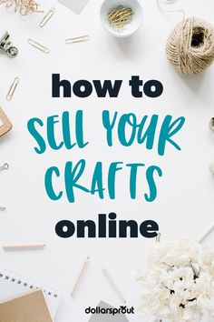 Selling Crafts Online, Craft Online, Make Money Fast Online, How To Make Money, Where To Sell, Craft Business, Business Ideas, Do It Yourself Crafts, Types Of Craft