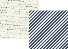 Simple Stories - POSH, Carpe Diem 12x12 #6709 Simply Amazing (Stripe & Arrows)