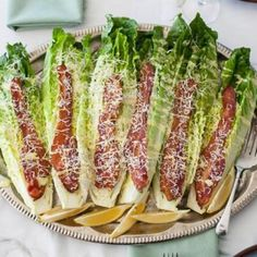 Caesar Wedge Salad With Bacon & Parmesan Recipe salad, gluten free, low carb, nut free, New Year's, memorial day, lunch with 6 ingredients Recommended by 1 users.