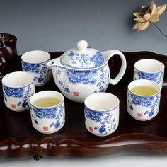 ปรึกษา<SP>China Ceramic Chinese Porcelain Kung Fu Tea Set,Celadon Blue Peony Teacup Ceramic Tea Pot, 7-pack (Natinal Beauty)++China Ceramic Chinese Porcelain Kung Fu Tea Set,Celadon Blue Peony Teacup Ceramic Tea Pot, 7-pack (Natinal Beauty) Tea cup with a blue peony is very beautiful Set: 1 teapot and 6 teacups Color:Natinal ...++