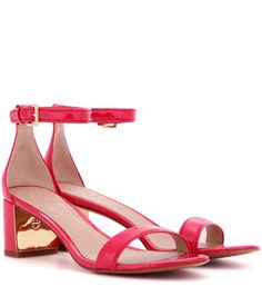 Cecile 55 pink patent leather sandals