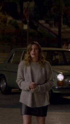 """Mickey from """"Love"""" on Netflix - her style is great throughout, but her oversized jumper/leather miniskirt/bare legs/Chelsea boots combo in the finale is my favourite"""