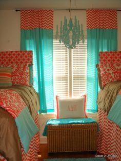 tiffany blue and corral | Classy Coral and Tiffany Blue Dorm Bedding - Dorm Room Designs ...