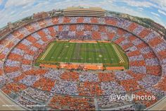 Oct 4, 2014 TN / FL game First time ever Neyland Stadium goes checkerboard!!!