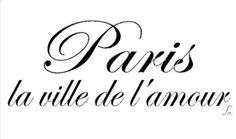Paris...the city of love