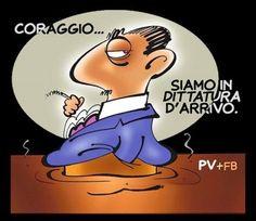 Italia. Quella cattolicissima repubblica fondata sull'intrallazzo. Vignetta di #PV Pietro Vanessi