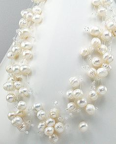 This one would be way pretty with different colored pearls/crystals.