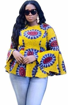 Cheap african pattern, Buy Quality african style directly from China african women traditions Suppliers: African style pattern of women traditional classical wax printing ink printed cotton hubble-bubble sleeve blouse Latest African Styles, Latest African Fashion Dresses, African Dresses For Women, African Print Dresses, African Print Fashion, African Attire, African Wear, African Women, African Outfits