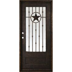Steves & Sons in. x 81 in. Texas Star Antique Rubbed Bronze Right-Hand Inswing Painted Decorative Iron Prehung Front Door, Antique Bronze Texas Style Homes, Country Homes, Country Style, Powder Coating Process, Door Sweep, Contemporary Style Homes, Grill Design, Interior Trim, Iron Doors