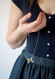 DIY Bow Necklace