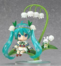 Amazon.com: Good Smile Snow Miku: Snow Bell Ver. Nendoroid Action Figure: Toys & Games