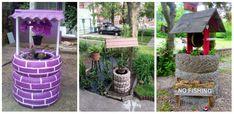Idei practice marca DIY pentru amenajarea gradinii cu fantani artizanale realizate din cauciucuri scoase din uz