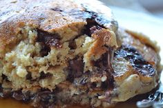 Kristin's kNook -a blog of food & thought: Healthy Chocolate Chip Pancakes