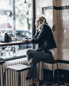 Egal ob zu Jeans oder Kleid - eine Lederjacke ist IMMER eine gute Wahl