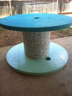project table | Butterfly Patio Spool Table | Projects