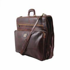 a0a960d2612c Profesionální kožený cestovní vak na oblek Papeete - Business Style - Hořká  čokoláda Suit Carrier