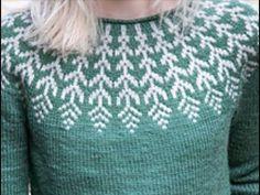 Круглая кокетка спицами. Лопапейса. Часть 1. Общий обзор. Расчеты. // Людмила Павленко Double Knitting Patterns, Knitting Machine Patterns, Knitting Stitches, Knitting Designs, Baby Knitting, Knitting Videos, Knit Crochet, Couture, Watch