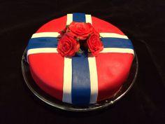 Norwegian 17. mai marzipan cake. Marzipan Cake, Norwegian Food, Pastries, Baked Goods, Norway, Cake Decorating, Yummy Food, Cakes, Baking