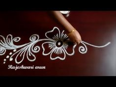 creative and simple rangoli designs without dots - small kolam borders - beginners​ muggulu easy Rangoli Side Designs, Rangoli Designs Latest, Simple Rangoli Designs Images, Rangoli Borders, Free Hand Rangoli Design, Small Rangoli Design, Rangoli Ideas, Rangoli Designs Diwali, Rangoli Designs With Dots