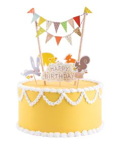 Forest Critter + Bunting Cake Topper - so cute!!