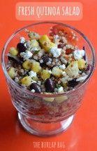 fresh quinoa salad - The Burlap Bag