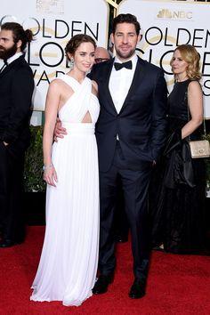 Emily Blunt and John Krasinski make a gorgeous pair.