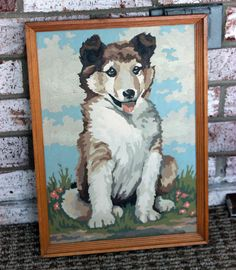 Puppy Dog Paint by Numbers Vintage Painting in by TreasureHut