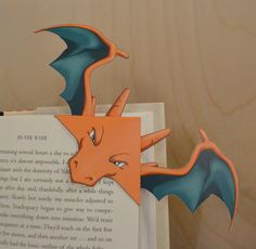 Charizard Bookmark by MomosMakery on Etsy