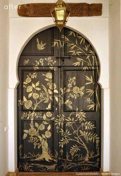 Customized Modello Stencil | Modello Designs  - beautiful door