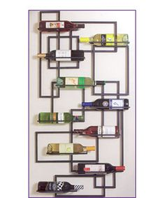 wall art wine rack
