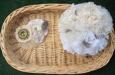 Burlap fabric bouquet