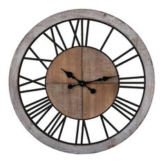 Roma Clock | Natural | 80x80cm by Hamptons Haven on Brands Exclusive