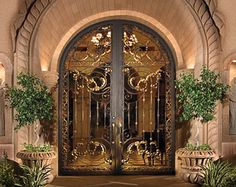 Gorgeous Colletti design wrought iron doors