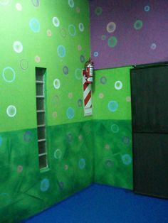 Acá los verdes y círculos para un salón de fiestas