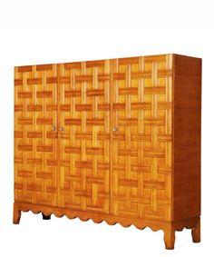 Lattice Cabinet made of Cherry Wood, c. 1940s  Paulo Buffa (italian, 1903-1970)