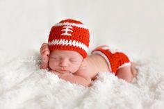 Kimberly Pecha Photography, Omaha Newborn Photographer, Huskers Football Newborn Photo