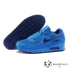 Nike Air Max 90 Womens Mens Shoes Hyperfuse All Blue