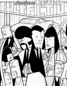 Cult Film Illustrations: Pulp Fiction to Star Wars
